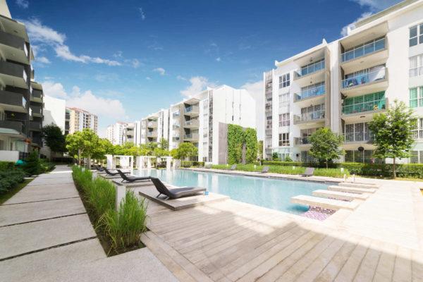 Poolside Apartment Area